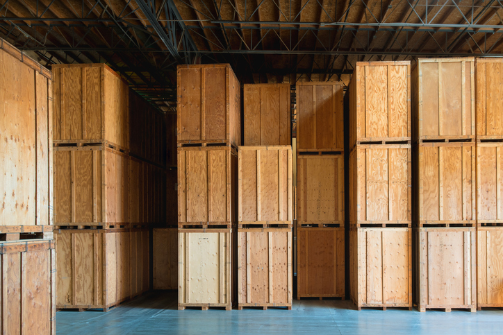storage of boxes